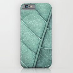 Sage Green Closeup Leaf Slim Case iPhone 6s