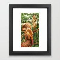 Parrot King Framed Art Print