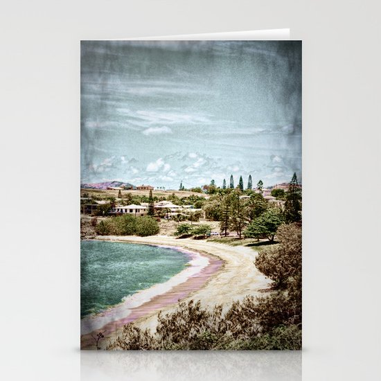 Living by the ocean Stationery Card