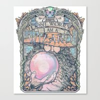 Wizard print Canvas Print