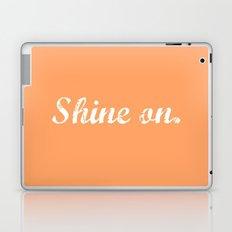 Peach Shine On. Laptop & iPad Skin