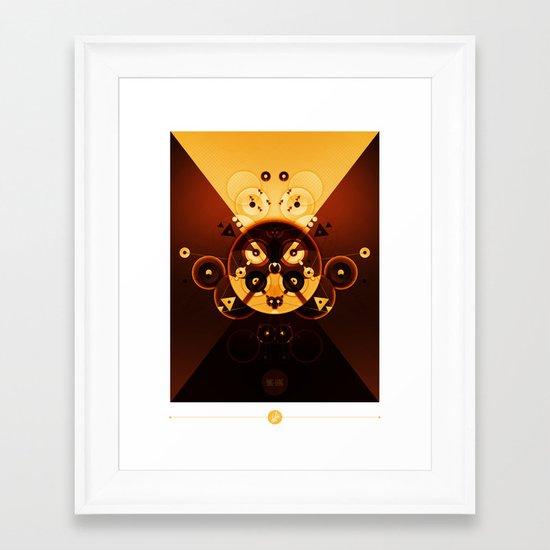 Ying-Yang Gold Cross Version Framed Art Print