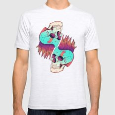 Skull Redux Mens Fitted Tee Ash Grey SMALL