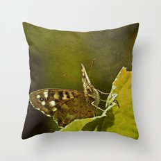 Speckled Wood Butterfly 2 Throw Pillow