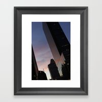 NYC Sunset Framed Art Print
