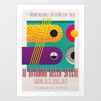 Manifesto Fiat Ritmo (Fiat Strada) Club Italia Art Print
