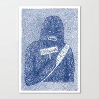 Chewie Canvas Print