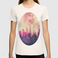 Mysterious city Womens Fitted Tee Natural SMALL
