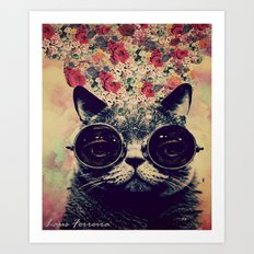 The lovecat! Art Print