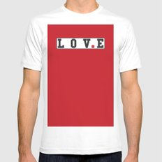 love text Mens Fitted Tee SMALL White
