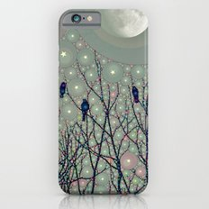 A Dawning with black birds lights on bare branches stars and gibbous moon  Slim Case iPhone 6s