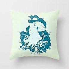Octopus Rex 02 Throw Pillow