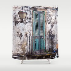 Medieval Sicilian Facade Shower Curtain
