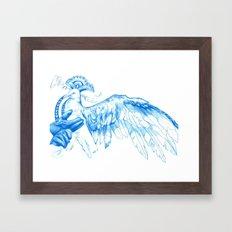 Like Soaring Through the Heavens in Blue Framed Art Print