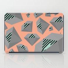 Mint and Gray Diamond on Peach iPad Case