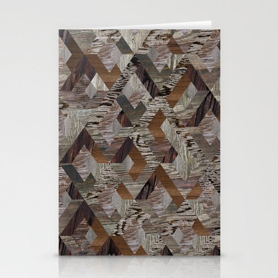 Wood Quilt Stationery Card