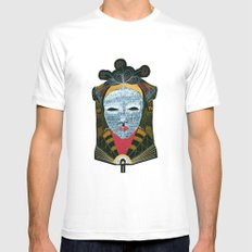 Black MASK White Mens Fitted Tee SMALL