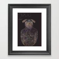 2 pug Framed Art Print