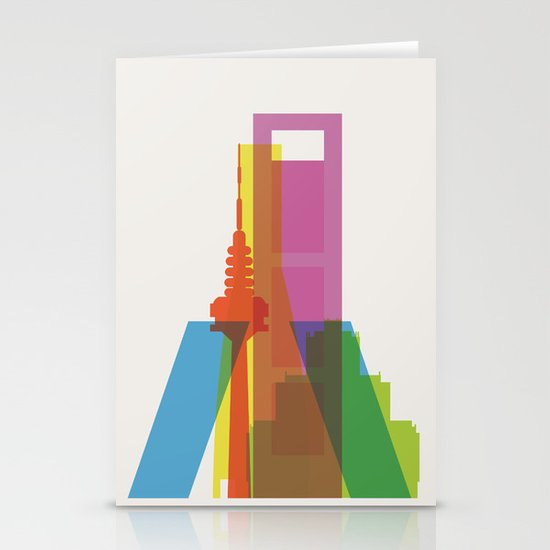 Shapes of Madrid. Accurate to scale. Stationery Card