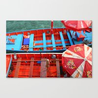 Taxi Boats Canvas Print