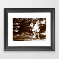 Liberated Lawn Gnomes Framed Art Print