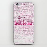 I Miss You. Talk To Me. iPhone & iPod Skin
