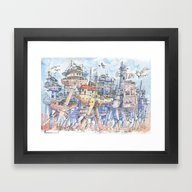 La Citta In Movimento!  Framed Art Print