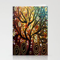 Abstract Tree-9 Stationery Cards