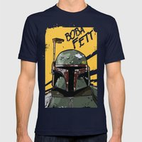 Fett Mens Fitted Tee Navy SMALL