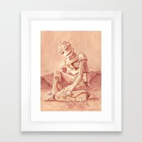 Giant Robot Framed Art Print