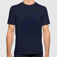 Fly Away. Mens Fitted Tee Navy SMALL