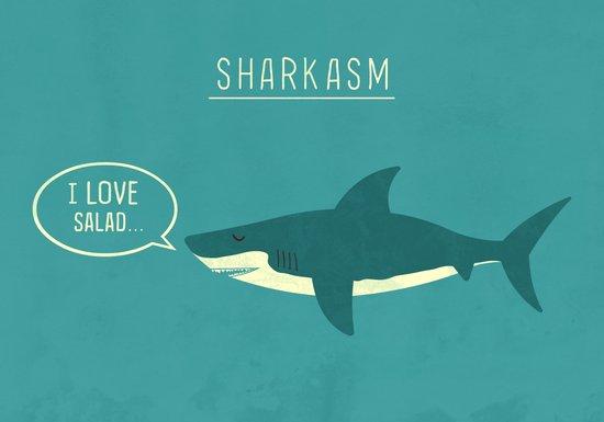 Sharkasm Canvas Print