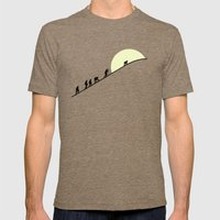 May We Meet Again Mens Fitted Tee Tri-Coffee SMALL