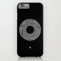 iPhone Cases featuring TRANSCENDENCE OF PI by THE USUAL DESIGNERS