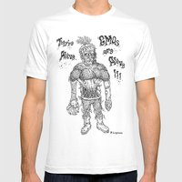 GMO-kenstein Mens Fitted Tee White SMALL