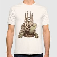 Slow Architecture Mens Fitted Tee Natural SMALL