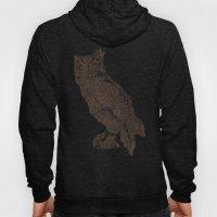 Wood Grain Owl Hoody