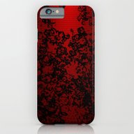 Red And Black Abstract D… iPhone 6 Slim Case