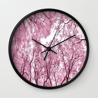 Pink view - photography Wall Clock