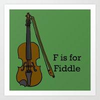 Fiddle, Typed Art Print