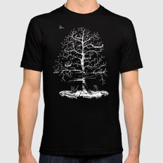The Tree SMALL Mens Fitted Tee Black