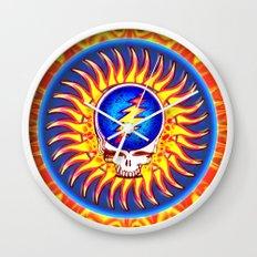 Sunburst Summer Grateful Dead Tribute Wall Clock