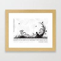 Secret Garden Black And … Framed Art Print