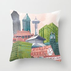 A Pleasant Day in Seattle Throw Pillow