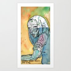 Somedays require a solipsistic state of mind. Art Print
