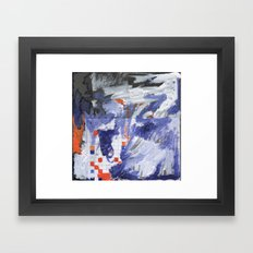 Abstract on Graph Paper Framed Art Print