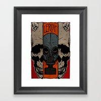 Split Skull Framed Art Print