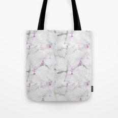 Magenta Cracked Design Tote Bag
