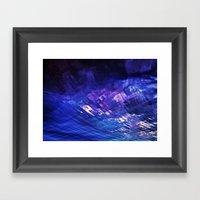 firey blues Framed Art Print