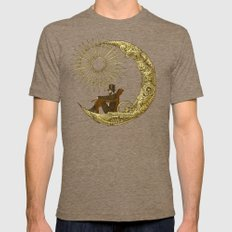 Moon Travel Mens Fitted Tee Tri-Coffee SMALL